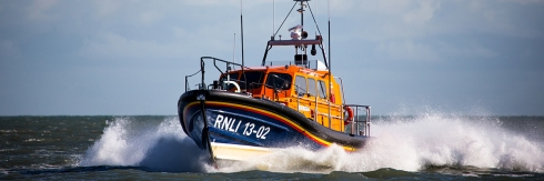 Dungeness RNLI's Shannon in action
